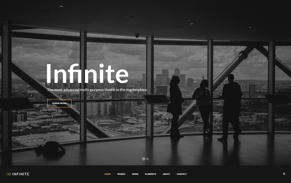 infinite cryptocurrency wordpress theme