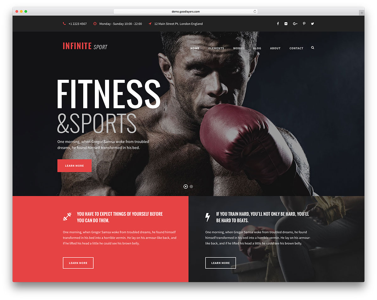 infinite-fitness-wordpress-website-template