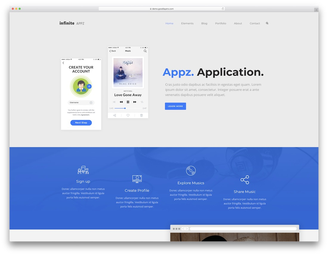 infinite it company wordpress theme