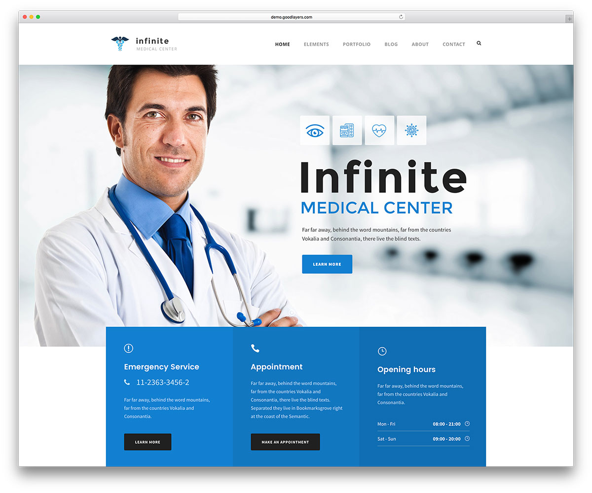 Infinite Modern Medical Website Template