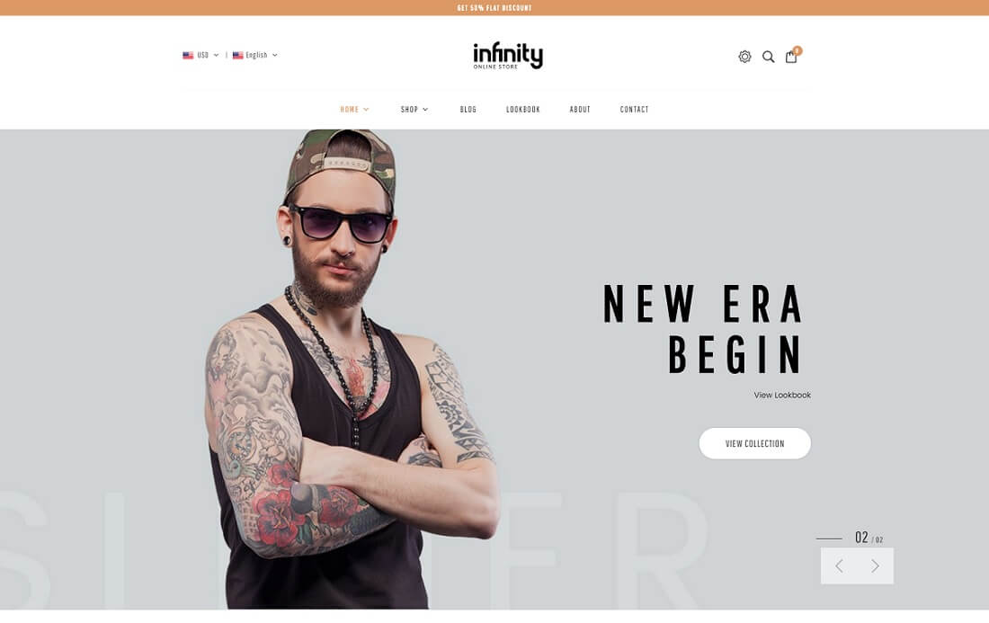 infinity fashion shopify theme