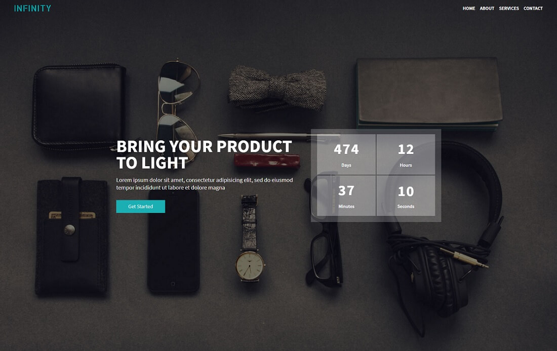 infinity free bootstrap 4 website template