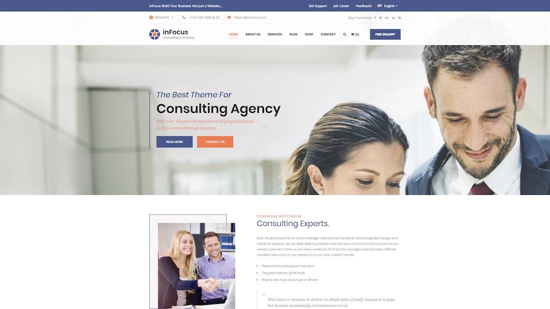 infocus consulting website template