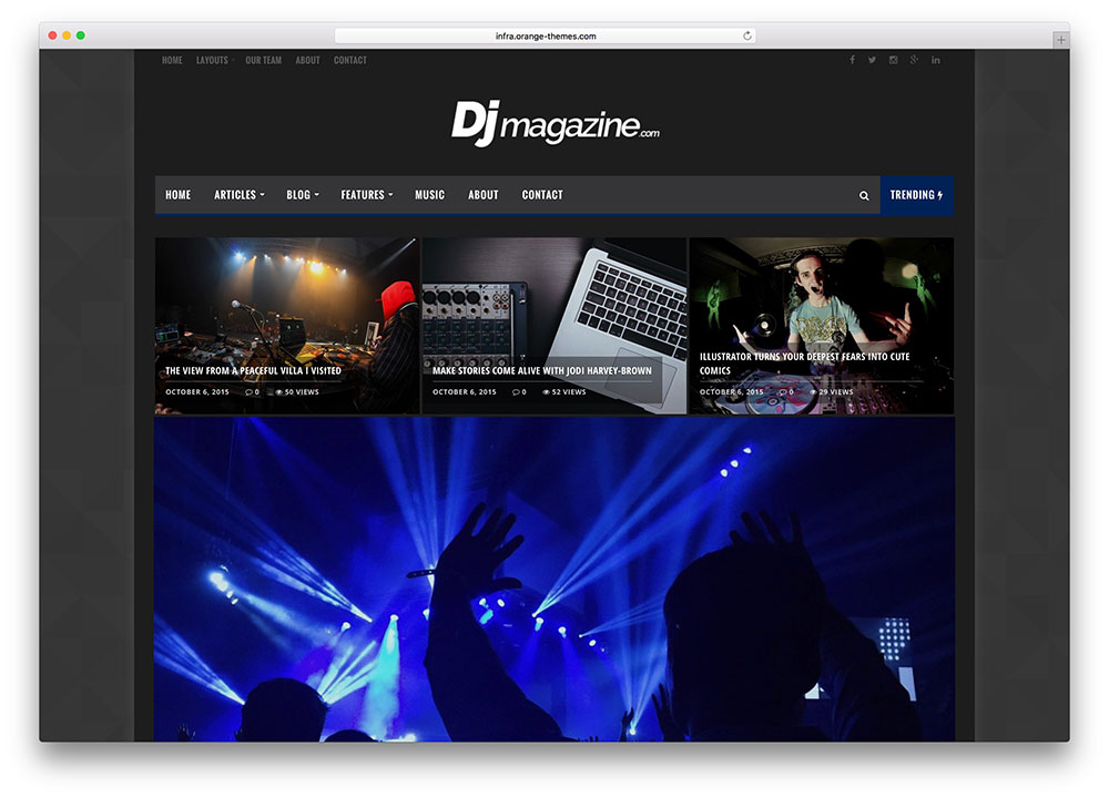 infra-dark-music-magazine-wordpress-theme