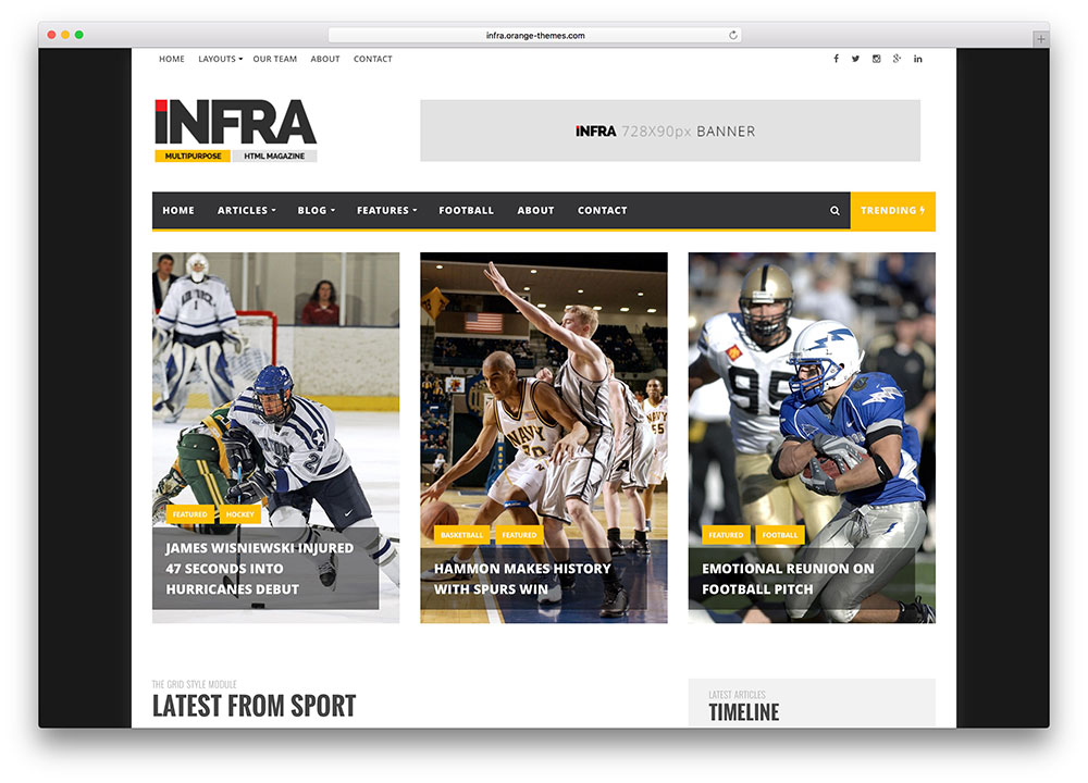 infra-sports-news-magazine-wordpress-theme