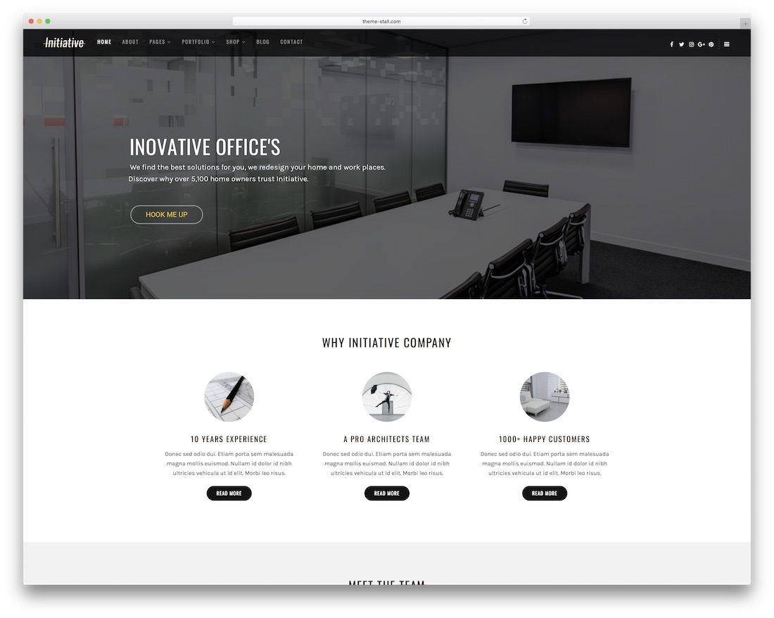 initiative wordpress theme for architects