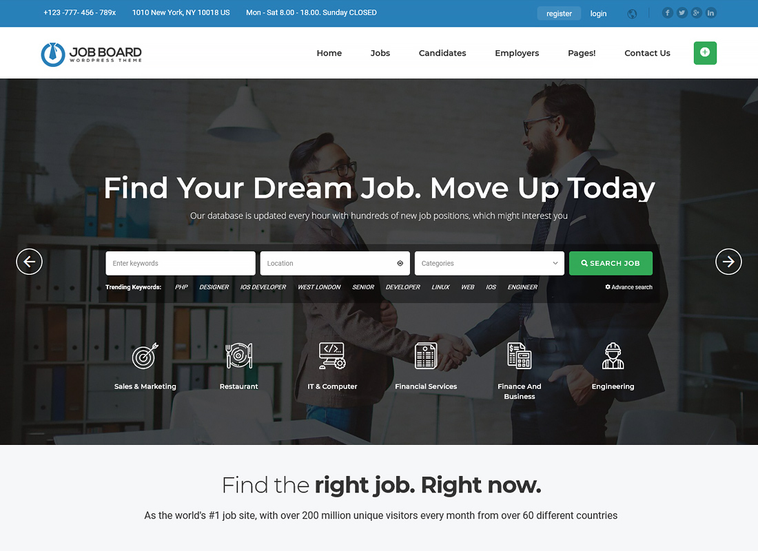 Job Board WordPress Theme - InJob