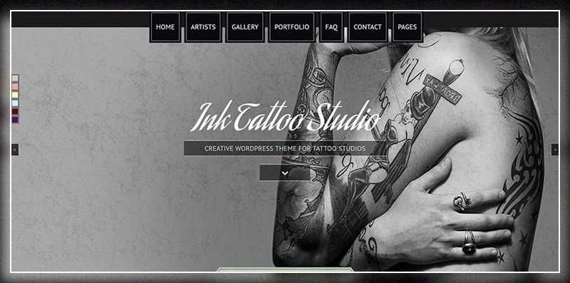 Ink Tattoo Studio - Creative WordPress Theme