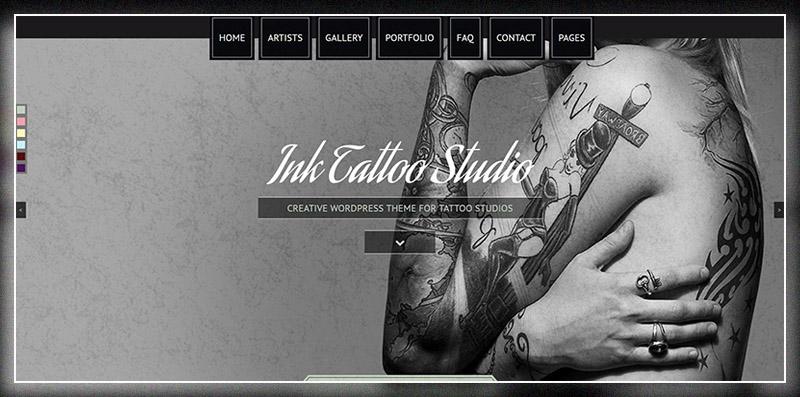 Ink Tattoo Studio - Creative WordPress Theme
