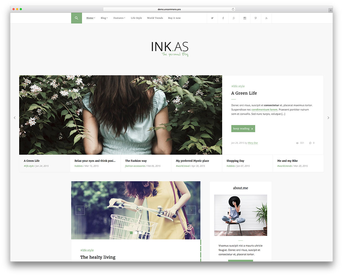 inkas-minimal-wordpress-blog-theme