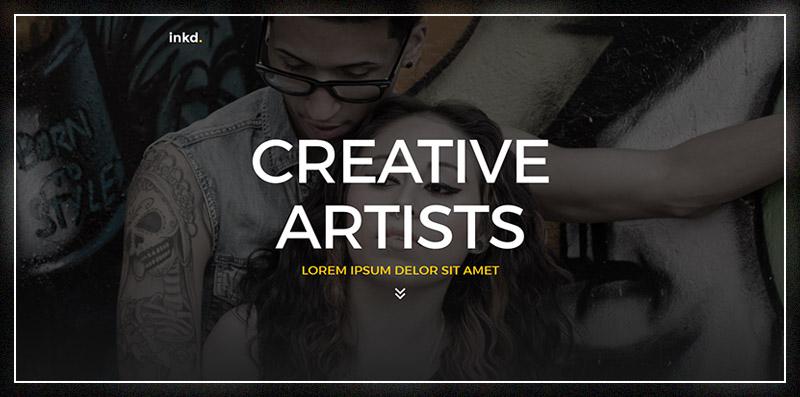 Inkd. Tattoo Studio One-Page WordPress Theme