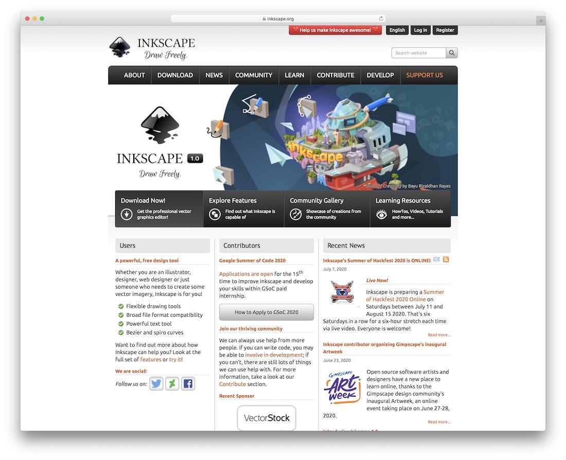 inkscape svg editor tool