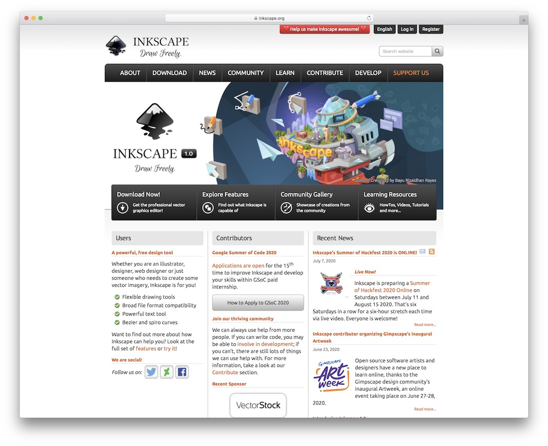 inkscape tool for graphic designers
