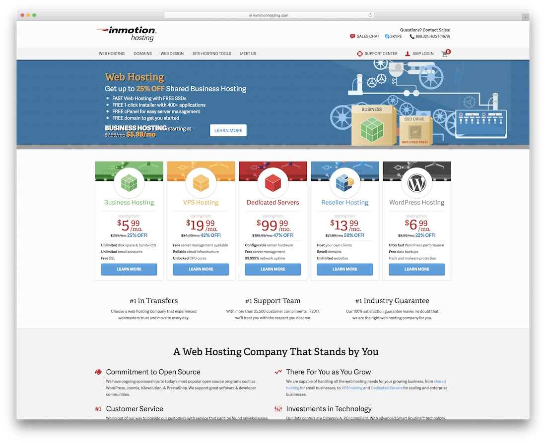 inmotion web hosting for personal website