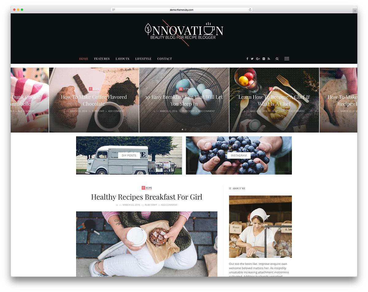 innovation-recipe-blog-website-template