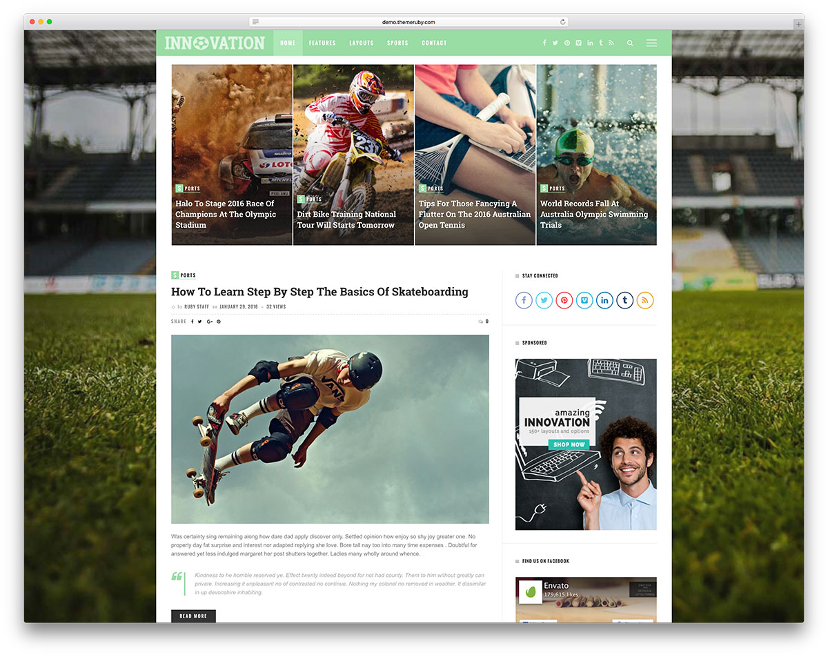 innovation-sport-blog-website-template