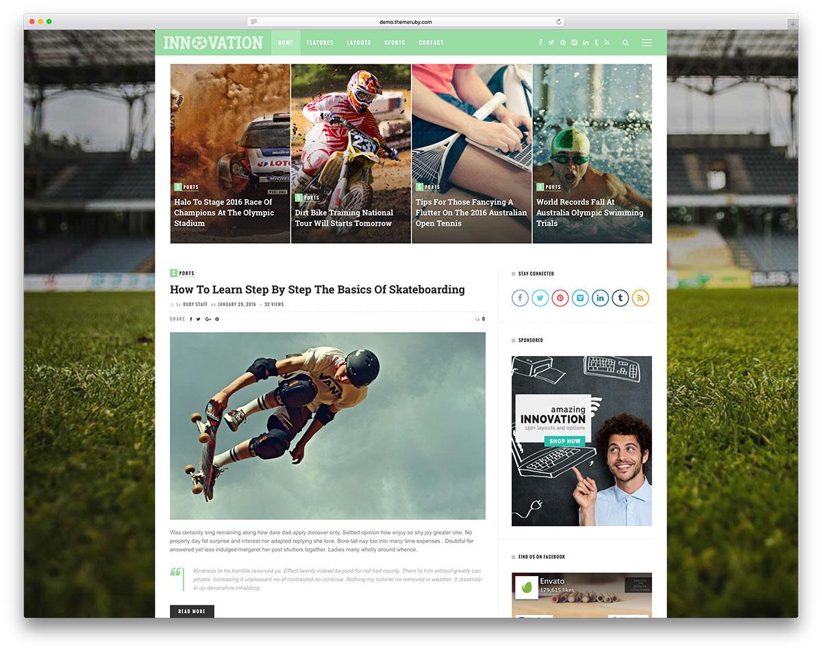 innovation-sport-blog-website-template