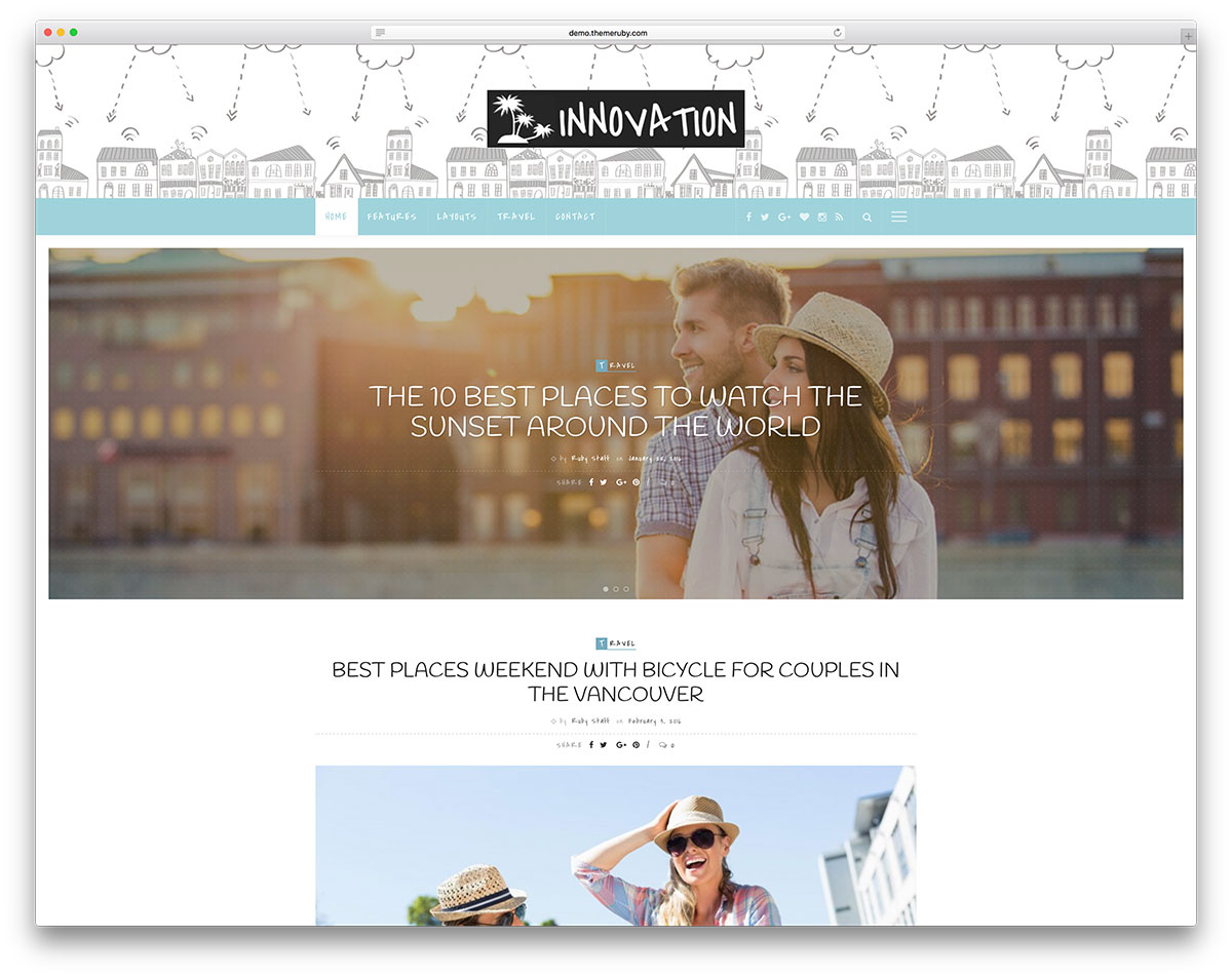20 Free WordPress Travel Themes for Travel Blogs amp Agency ...