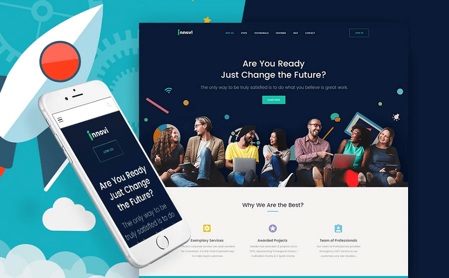 Innovi - Startup & Creative Digital Agency WordPress Theme