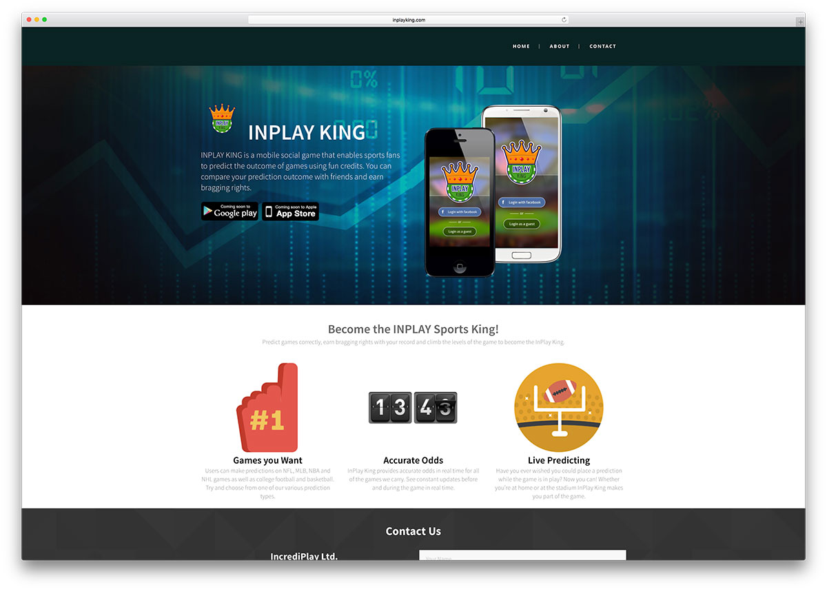 inplayking-mobile-app-showcase-site-with-vc