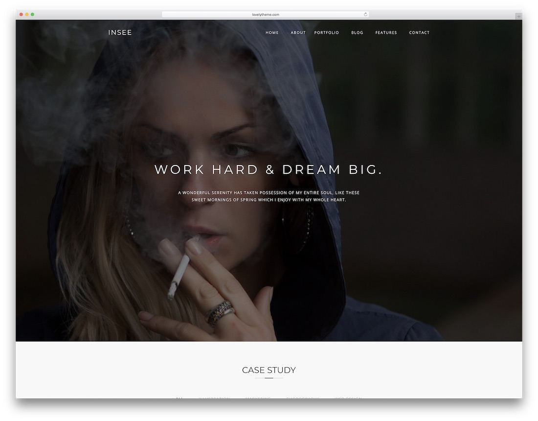 insee designer website template