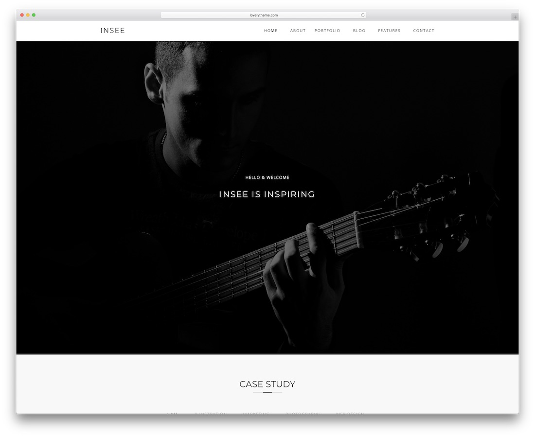 insee minimal website template