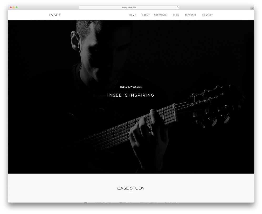 insee minimal website template