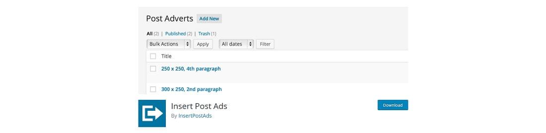insert post ads plugin