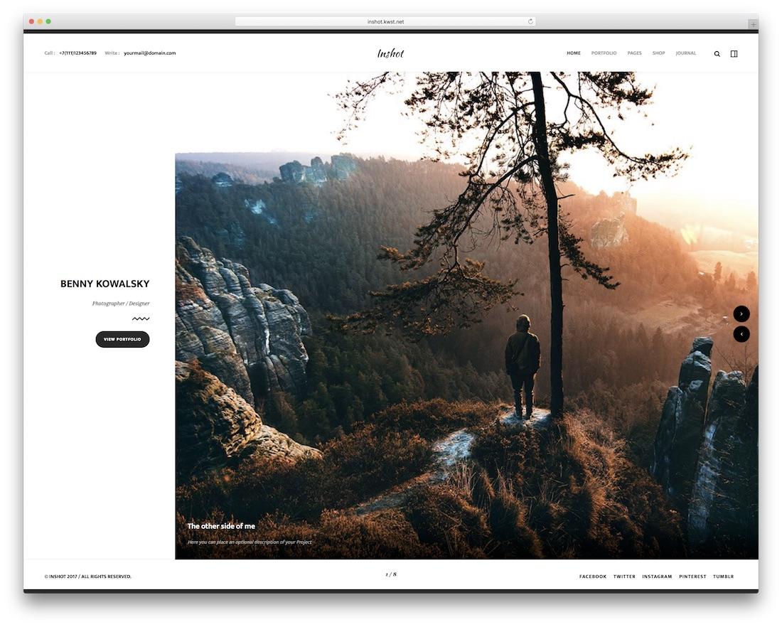 inshot beautiful website template