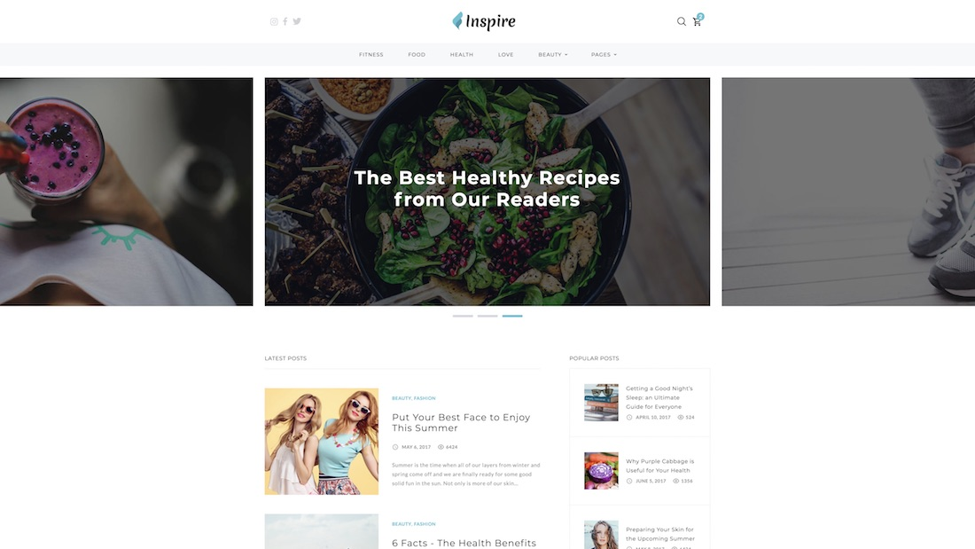 inspire website template