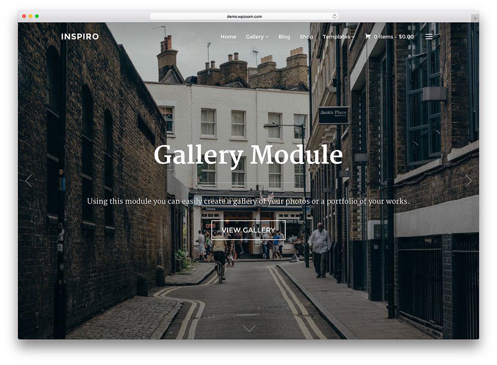 inspiro - fullscreen gallery theme