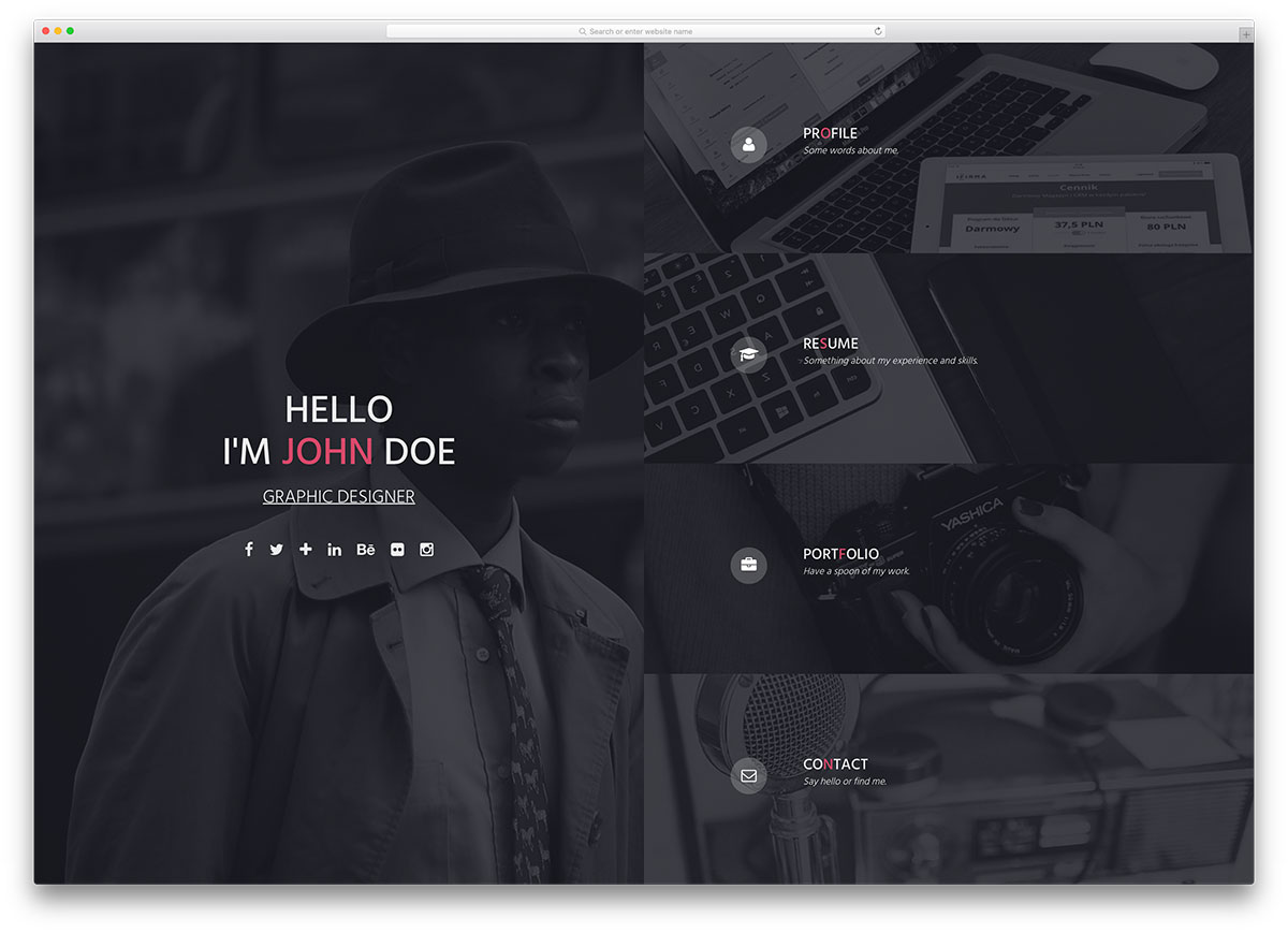 15 best html5 vcard and resume templates for your personal online insta fullscreen resume html template