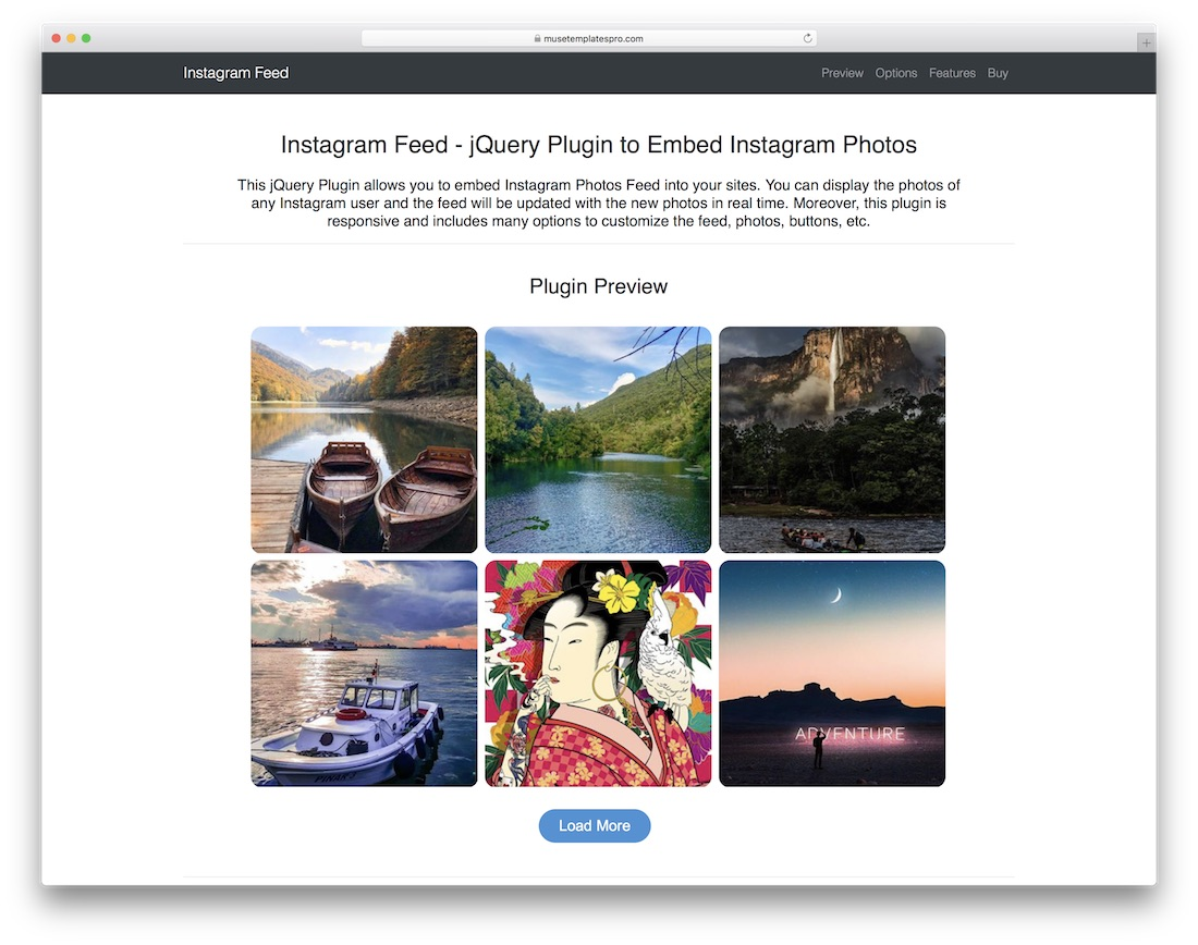 instagram feed jquery plugin social media