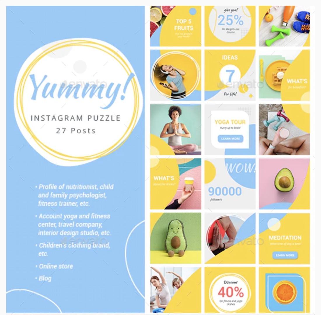 instagram puzzle yummy