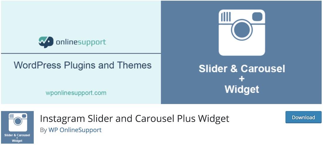 instagram slider and carousel plus widget