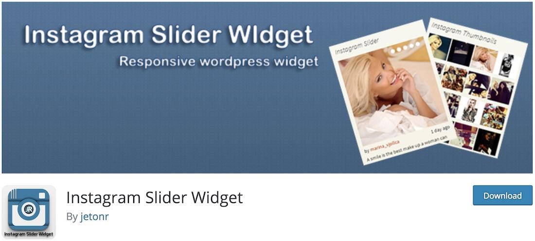 instagram slider widget free plugin