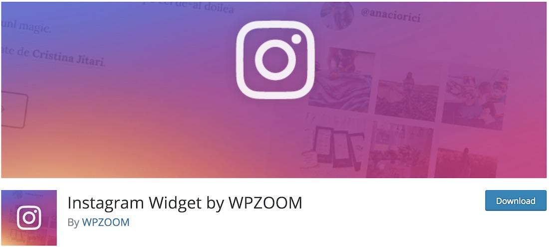 instagram widget by wpzoom free plugin