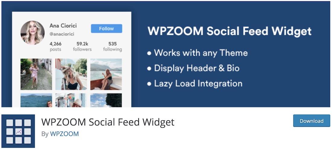 instagram widget by wpzoom wordpress plugin