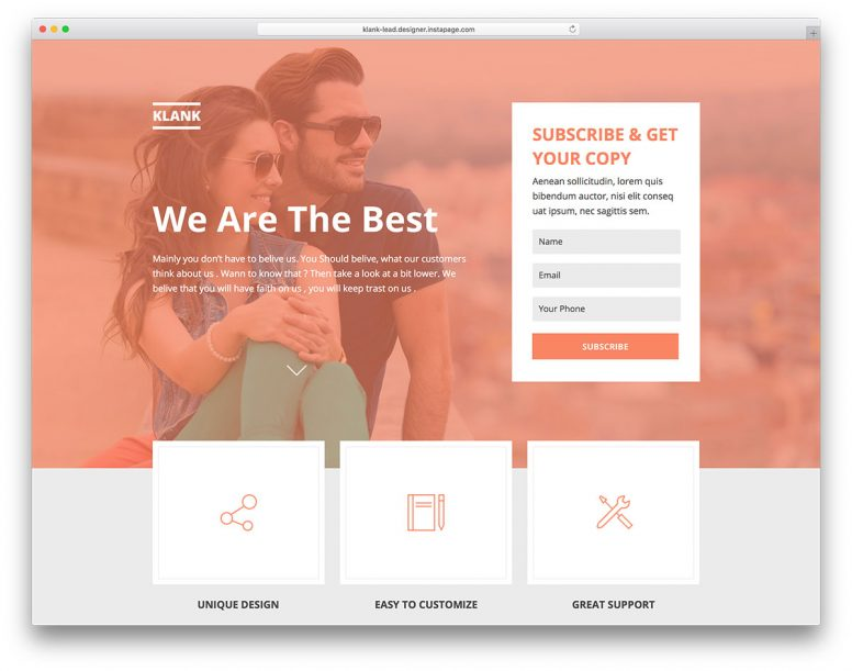 24+ Professional Instapage Landing Templates 2017