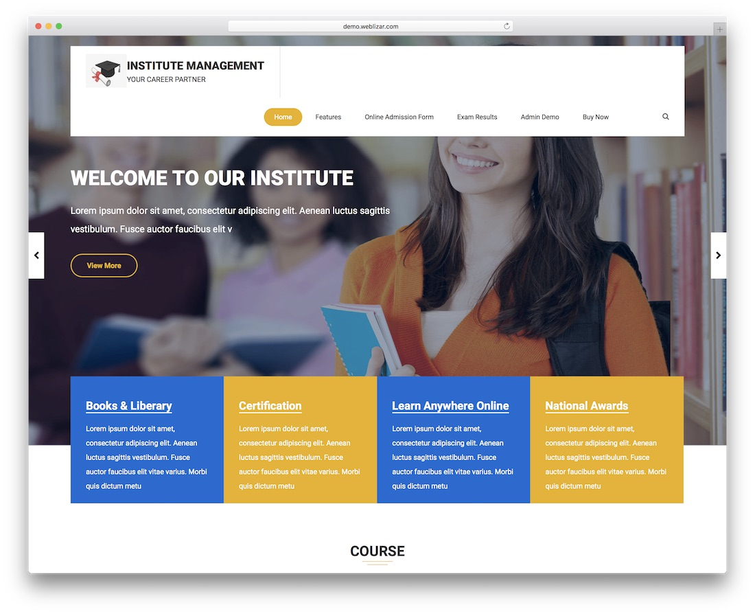 institute management pro wordpress plugin
