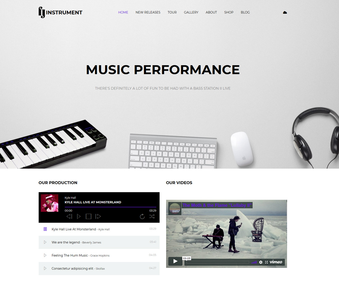 instrument-bootstrap-music-templates