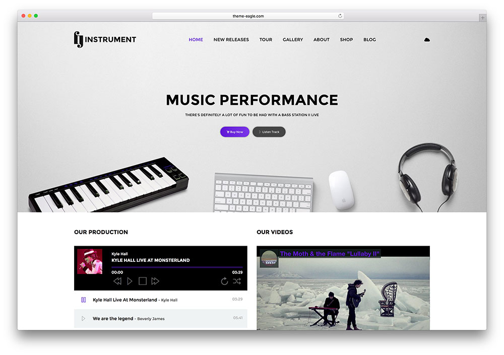 instrument-music-artist-html-site-template