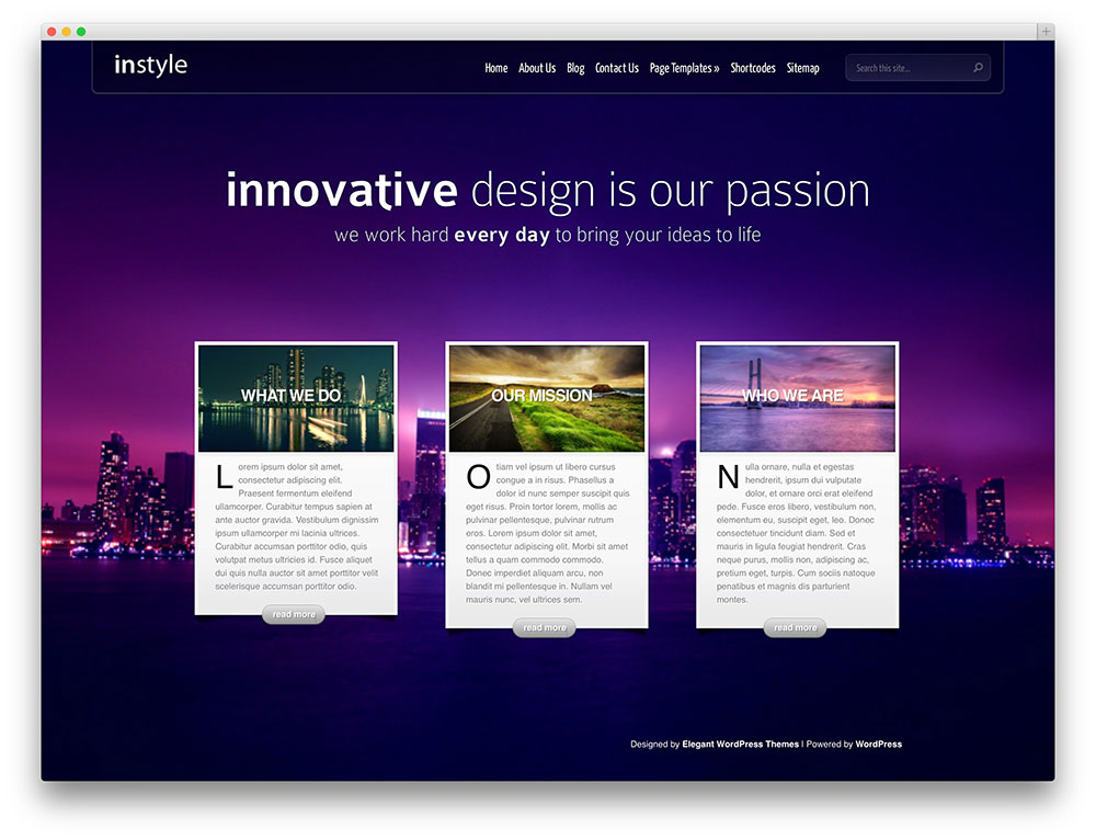instyle fullscreen slider template