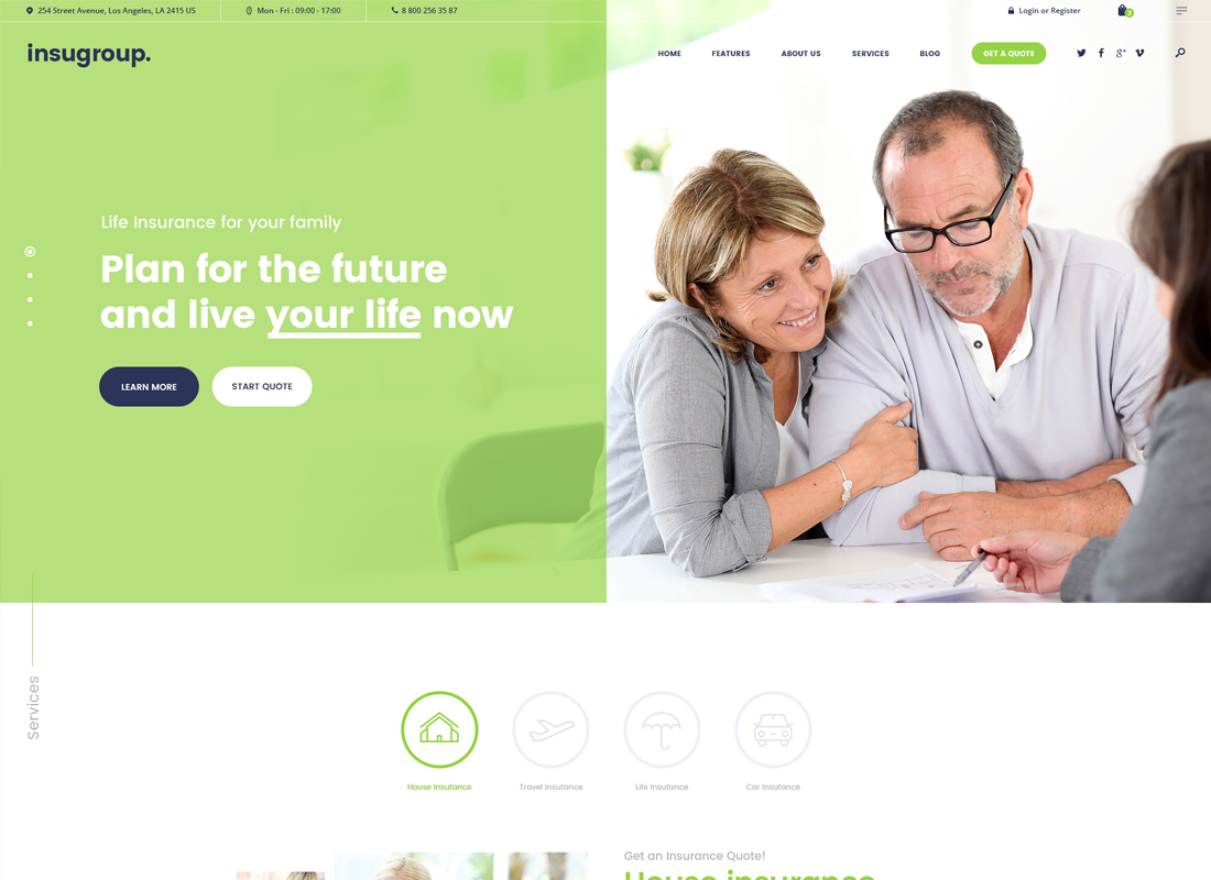 Insugroup - A Clean Insurance & Finance WordPress Theme