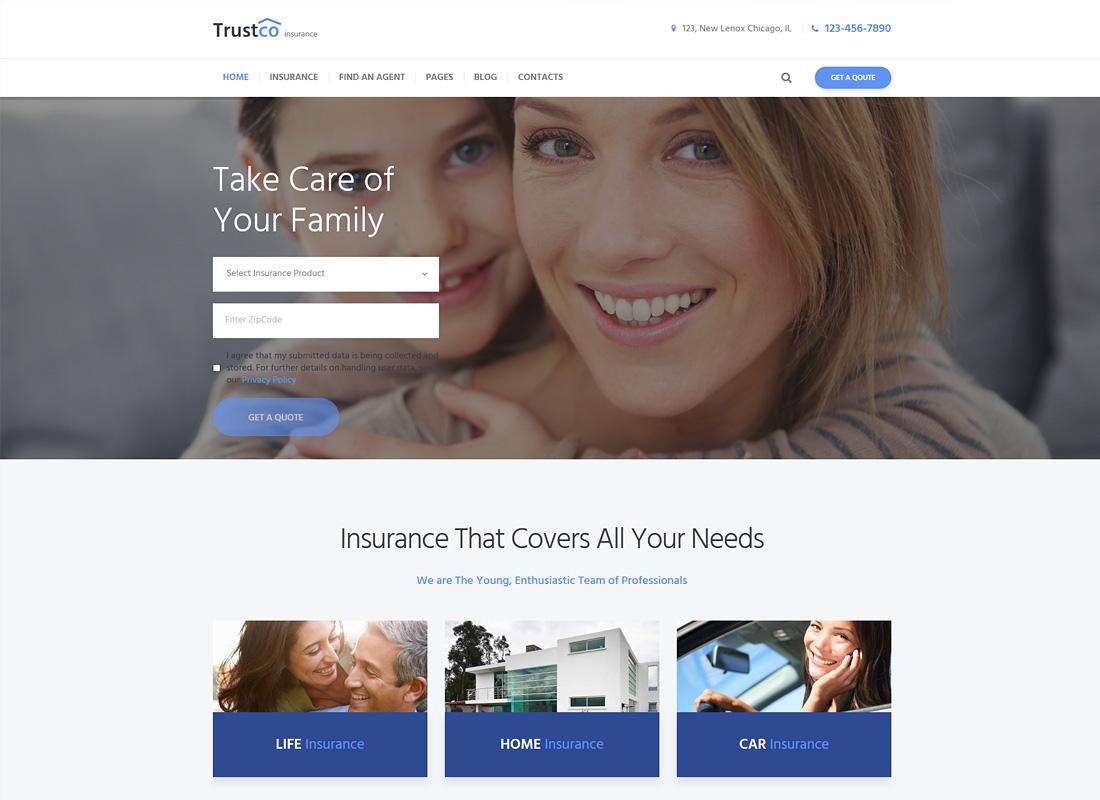 TrustCo | Insurance Agency & Business WordPress Theme
