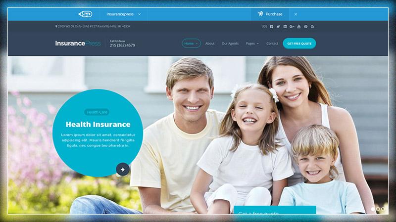 Insurance Press - Insurance Agency WordPress Theme