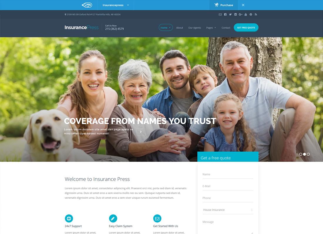 Insurance Press | Insurance Agency WordPress Theme