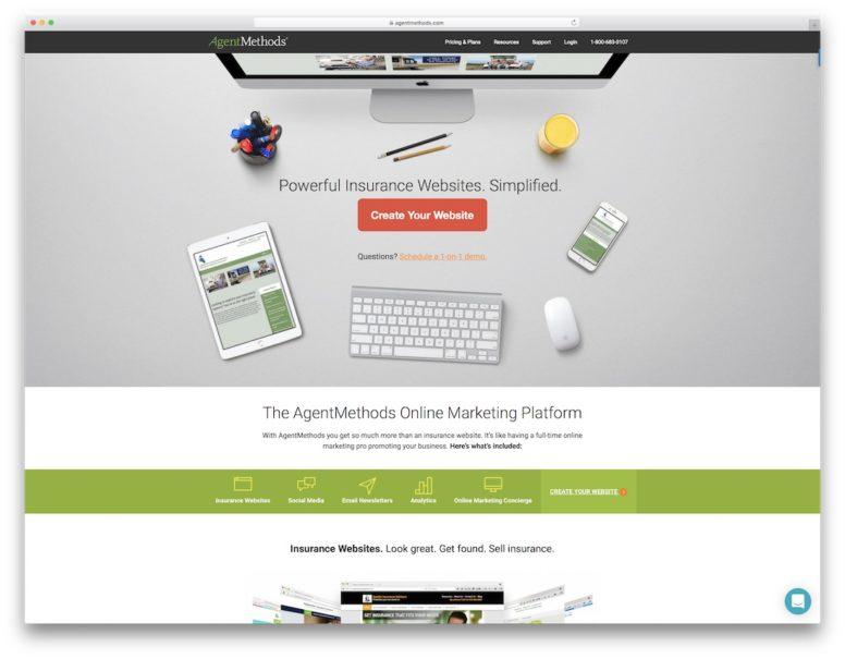 Insurance Website Builders