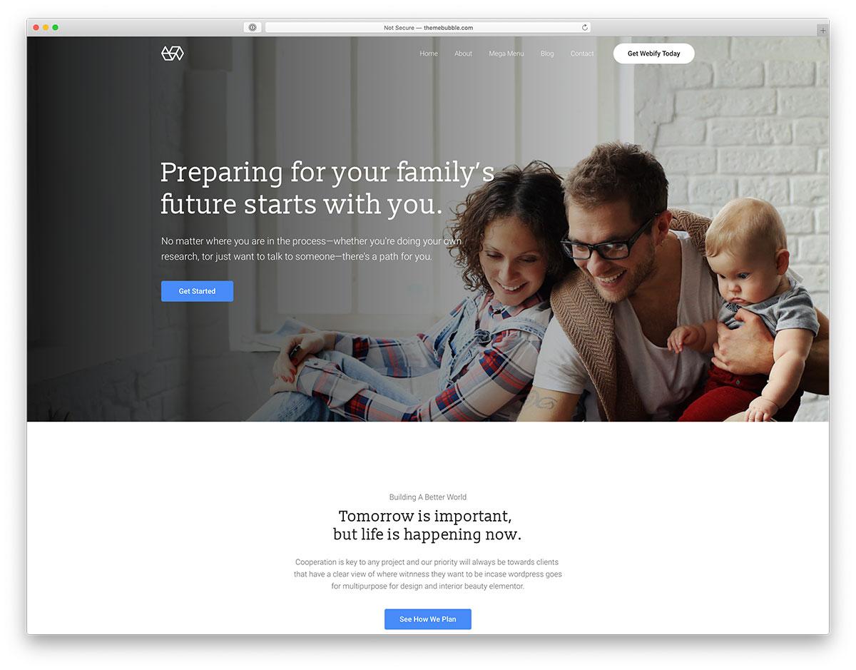insurance wordpress theme 1 - Top 27 WordPress Insurance Company Themes 2020 - Colorlib