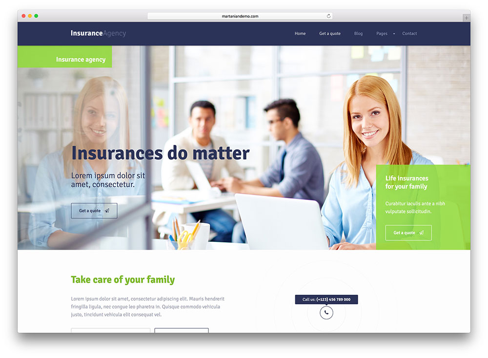 Top 20 WordPress Insurance Company Themes 2017 - Colorlib